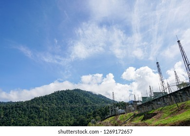 Electric Power Substation: Electricity Substation, Power Line, Power Station, Equipment, Cable - Image