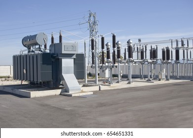 Electric Power Substation: Electricity Substation, Power Line, Power Station, Equipment, Cable