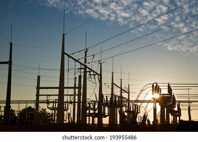 electric power transformation substation in sunrise