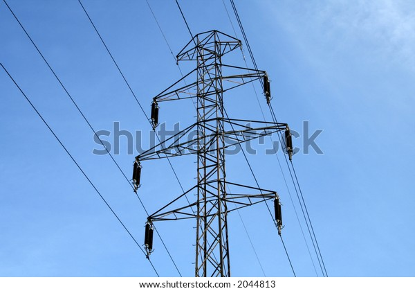 Electric power utility pole: part of the power grid