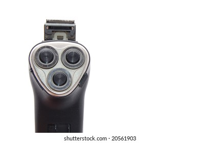 electric razor isolated on a white