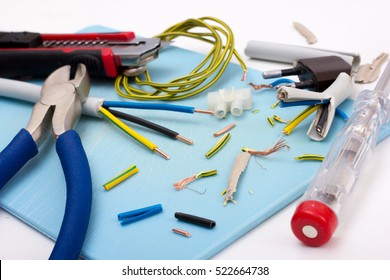 Electric repair and installation with set of electronic tools isolated