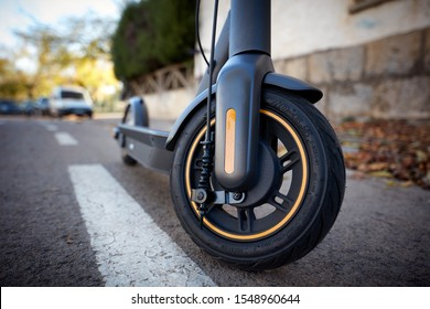 electric scooter on the road