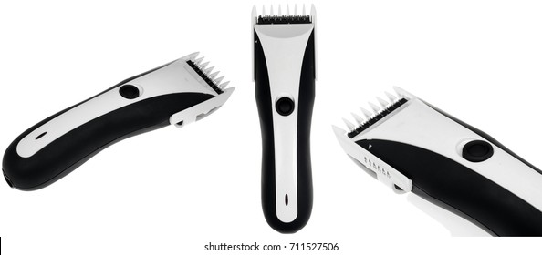 Electric shaver over white background
