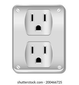 electric socket illustration