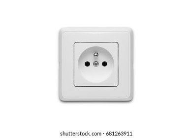 Electric socket on a white background
