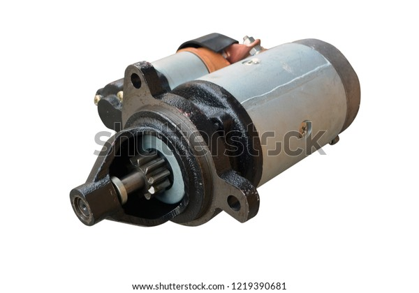Electric Starter Car Solenoid Isolated On Stock Photo (Edit