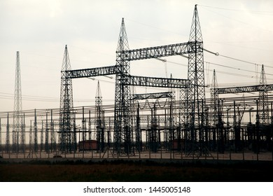 Electric Station In Front Of Clouds