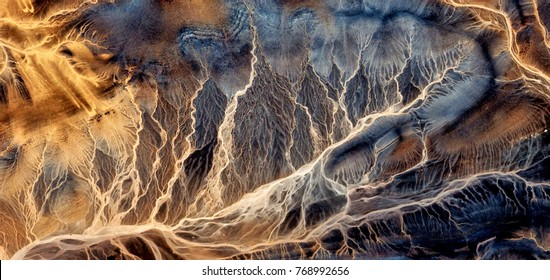 electric storm, abstract photography of the deserts of Africa from the air, bird's eye view, abstract expressionism, contemporary art, optical illusions,