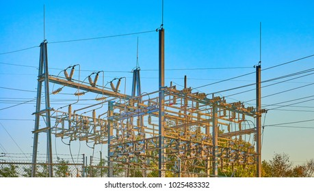 Electric Substaion Against Sky