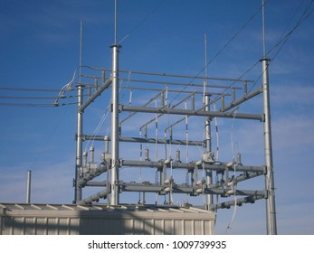 Electric substation and power lines