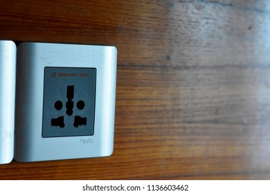 Electric switch on wood board,18july2018,dhaka,Bangladesh
