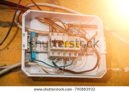 electric switch, selective focus  fuse, electrical box, switches, electrical  panels,