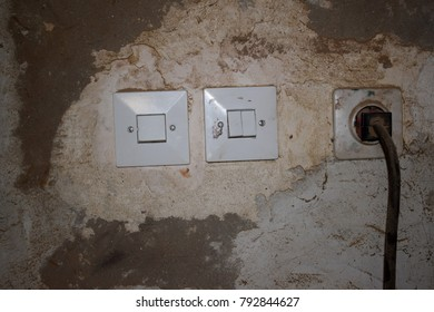 Electric switches on the wall