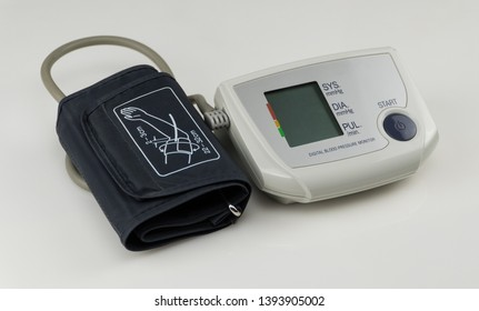 electric tonometer for measuring pressure on white background, isolated