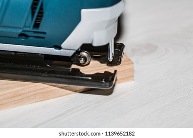 Electric tool. A fret saw, for a wood cut