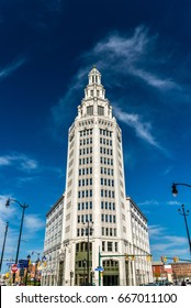 Electric Tower, a historic office building in Buffalo - New York, USA. Built in 1912