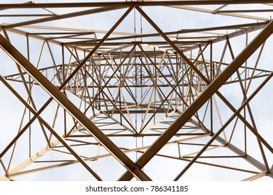electric tower seen from below