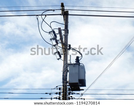 Surprising Electric Transformers Wires Installed On Concrete Stock Photo Edit Wiring Cloud Rectuggs Outletorg