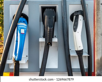 Electric Vehicle charging options handles