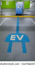 Electric vehicle charging stations. Quick charge station for electric cars