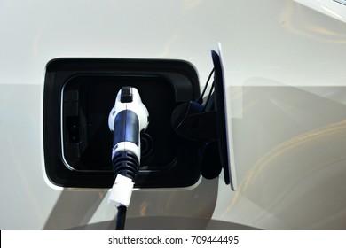 Electric vehicle (EV) charging station.