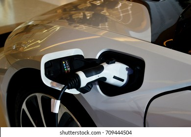 Electric vehicle (EV) charging station.