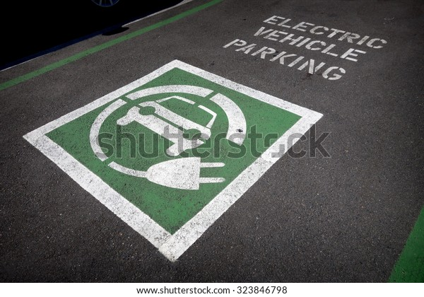 Electric Vehicle Parking Space Stock Photo (Edit Now) 323846798