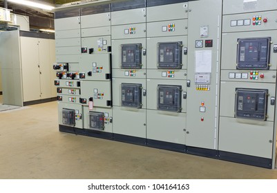 Electric voltage control room of a plant