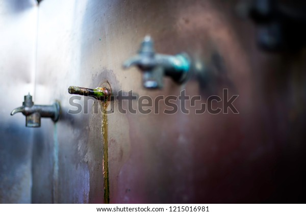 Electric Water Coolers Damaged Wood Plugged Stock Photo Edit Now 1215016981