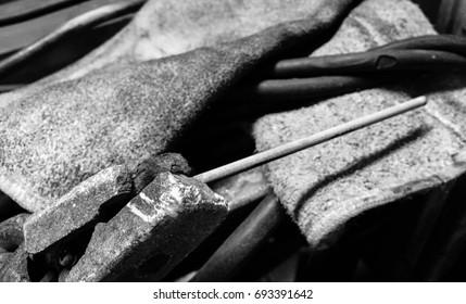 Electric welding machine,Welding cabinet,Flame retardant gloves
