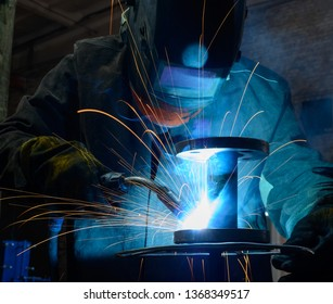 electric welding of structures