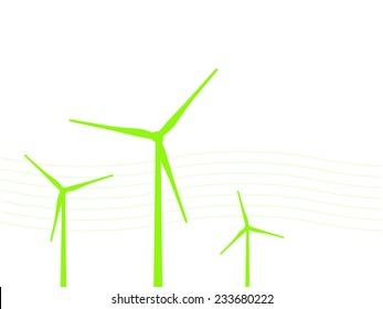 Electric Windmill Landscape