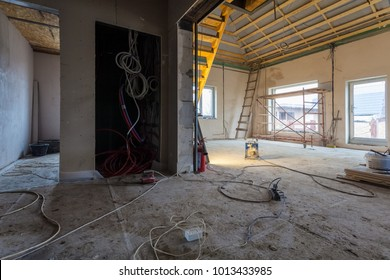 Electric wires and materials,  for repairs and tools for remodeling  interior house (apartment)  is under remodeling, renovation, extension, restoration, reconstruction and construction (upgrading)