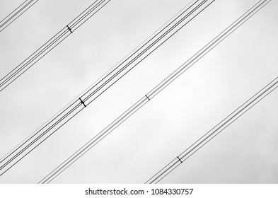 Electric wires with slash pattern