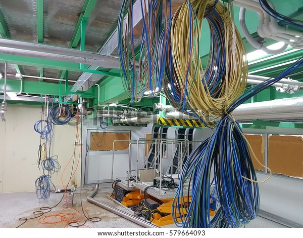 Electric Wiring Work Factory Stock Photo (Edit Now) 579664093 on