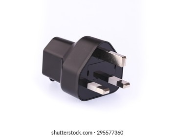 Electrical adapter isolated on white background.