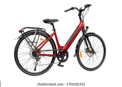 Electrical Bicycle on White Background