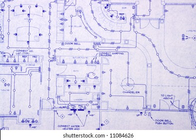 Electrical blueprint of a house