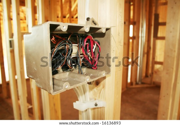 Electrical Box Wiring New Home Under Stock Photo (Edit Now ... on