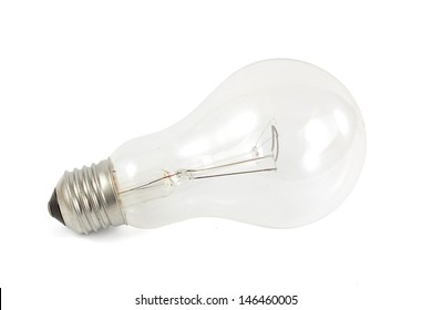 Electrical bulb isolated on white background