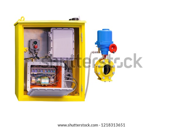 Electrical Cabinet Actuator Remote Control Valves Stock Photo (Edit