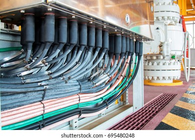 Electrical cabinet with connectors is providing electrical energy to residential place