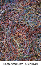 Electrical cable and wire as background