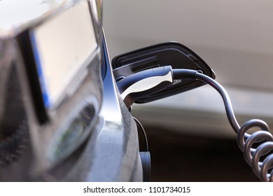 electrical car charging cable close up
