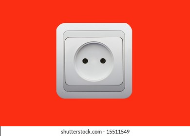 electrical connector on red
