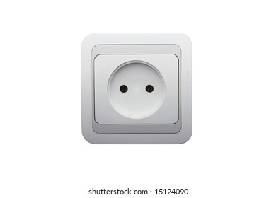 electrical connector on white