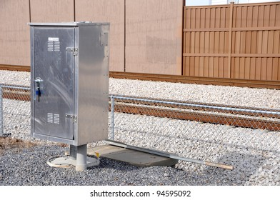 Electrical Control Box for Commuter Train Road Crossing Arms and Lights
