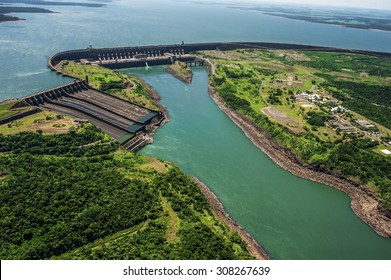 Electrical dam in South America.