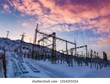 Electrical distribution substation.